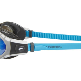 speedo Futura Biofuse Flexiseal Mirror Goggle USA Charcoal/Grey/Blue Mirror